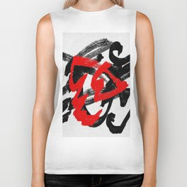 Black and red Biker Tank