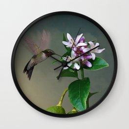 Lemon Tree and Hummingbird Wall Clock