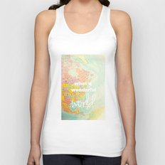 What a Wonderful World Unisex Tank Top