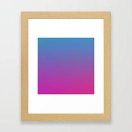 RETRO BLAST - Minimal Plain Soft Mood Color Blend Prints Framed Art Print