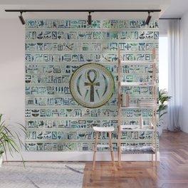 Abalone Shell Egyptian Ankh Cross symbol Wall Mural
