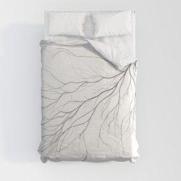 Mycelium (pencil drawing) Comforters