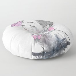 A touch of butterflies. Floor Pillow