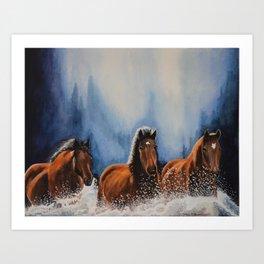 Water Horses Art Print