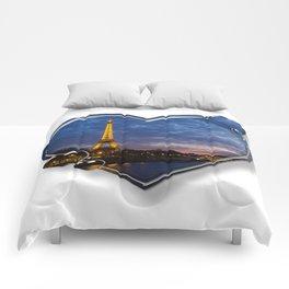 I Love Paris Comforters