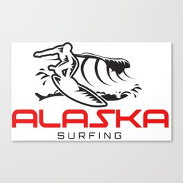 Alaska Surfing Canvas Print