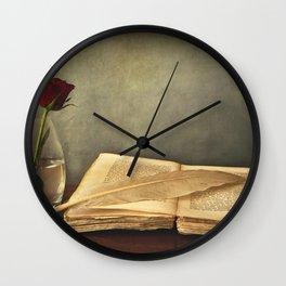 Old Book Pen Photo Wall Clock