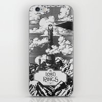 lotr iPhone & iPod Skins featuring Lord of the Rings Mordor Tower Vintage Geek Art by Barrett Biggers