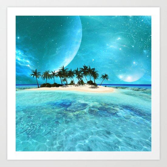 Wonderful tropical island Art Print