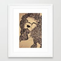 lions Framed Art Prints featuring Lions by Zora Chen