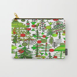 Christmas Tree Doodles pattern Carry-All Pouch