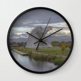 Iron Horses. Wall Clock