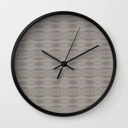 Elegant Gray Geometric Southwestern Pattern - Luxury Fabric - Corbin Henry Wall Clock