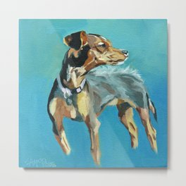 Mabel Jane the Marvelous Mystery Mutt Metal Print