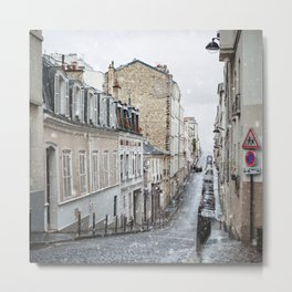 Montmartre, Paris. Metal Print
