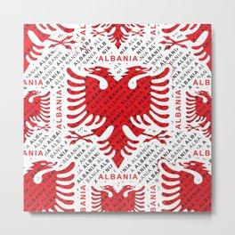 Albanian flag pattern 4 Metal Print