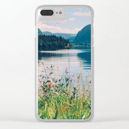 Lake Bohinj in Slovenia, 1 Clear iPhone Case