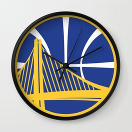 Golden State Warrior Logo Wall Clock