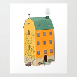 The Yellow House Art Print