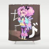 chibi Shower Curtains featuring chibi by barachan