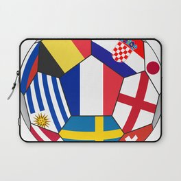 Football ball with various flags - semifinal and final Laptop Sleeve