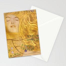 Gustav Klimt - Water Serpents, 1 (detail) Stationery Cards