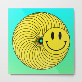 Smiley Ring Metal Print