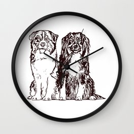 Australian Shepherd working dog for dog lovers Wall Clock