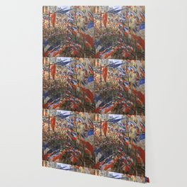 "Claude Monet ""The Rue Saint Denis, 30th of June 1878"" Wallpaper"