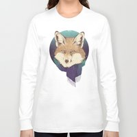 fox Long Sleeve T-shirts featuring Fox by Laura Graves