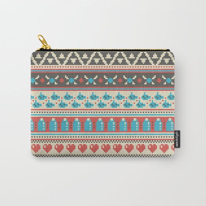 Fair-Hyle Knit Carry-All Pouch