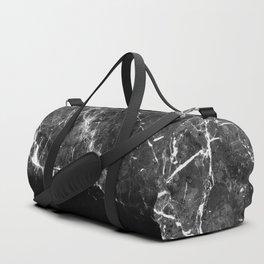 Black Gray Marble #1 #decor #art #society6 Duffle Bag