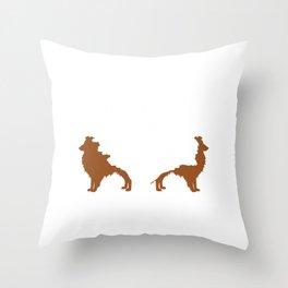 Shetland Sheepdog Animals Pets Doggie Dogs Gift Shelties Are Like Potato Chips Throw Pillow
