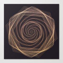 Geometric Rose Canvas Print