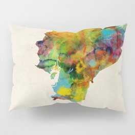 Ecuador Watercolor Map Pillow Sham