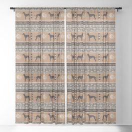 Ancient tribal dogs | Whippet / Greyhound Sheer Curtain