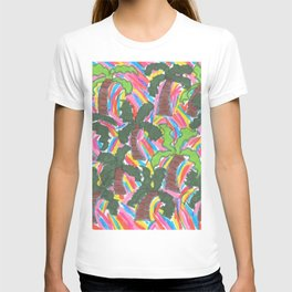 Rainbow Palm Trees Tropical Party T-shirt