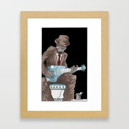 In the Future, Even Droids Sing the Blues Framed Art Print