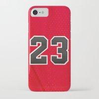 chicago bulls iPhone & iPod Cases featuring Michael 23 Jordan Chicago Bulls by Rorzzer