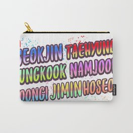 BTS name deisgn Carry-All Pouch