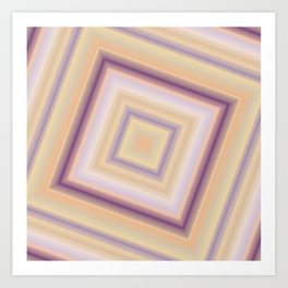 rotated square caro in pastel colors Art Print