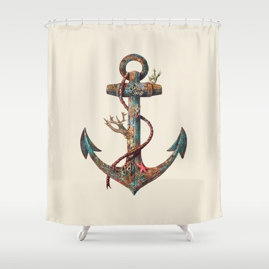 Lost at Sea - colour option Shower Curtain