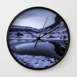 Mountain Reflection 01 Wall Clock