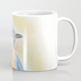 Blue Bird Colored Pencil Drawing Coffee Mug