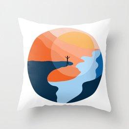 Trolltunga Fjord Norway Souvenir Gift Throw Pillow