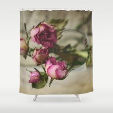 Yesterday's Roses Shower Curtain