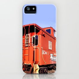 Lil Red Caboose -Wellsboro Ave Hurley ArtRave iPhone Case
