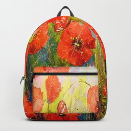 Poppies and butterflies Backpack