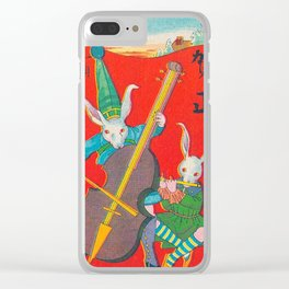 Vintage Japanese Art Print - Yo Tengo Clear iPhone Case