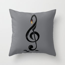 Black swan's melody Throw Pillow